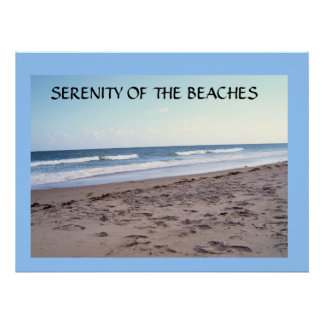 SERENITY ON THE BEACHES POSTER