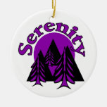 Serenity Double-Sided Ceramic Round Christmas Ornament