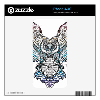 Serenity Owl Decal For The iPhone 4
