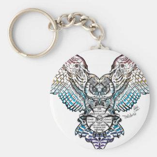 Serenity Owl Keychain