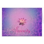 Serenity Pink Lotus Flower Card