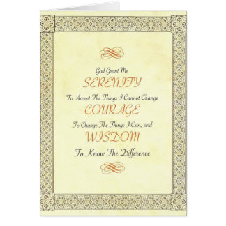Serenity Poem with Gold Border Card