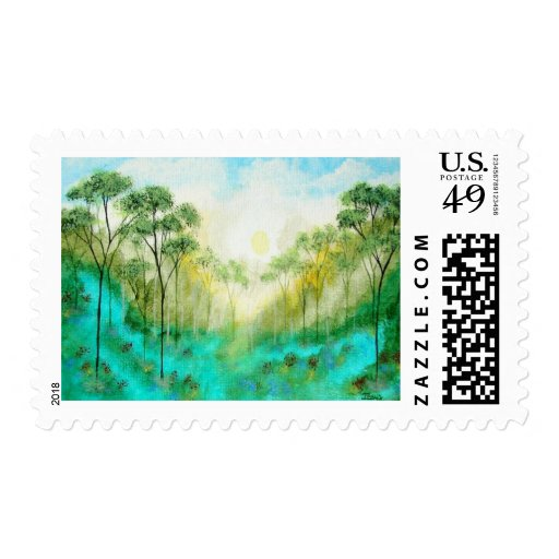 Serenity Postage Stamps From Original Painting