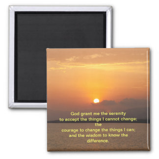 Serenity Prayer 2 Inch Square Magnet