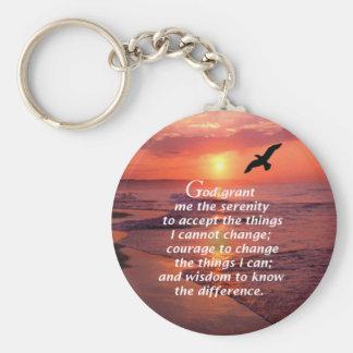 Serenity Prayer 3 Basic Round Button Keychain