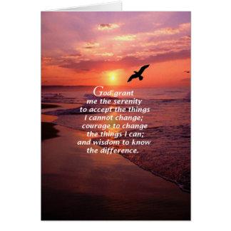 Serenity Prayer 3 Card