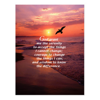 Serenity Prayer 3 Postcard