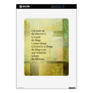 Serenity Prayer Abstract Landscape Green Skin For iPad