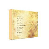 Serenity Prayer Abstract Sunflower Canvas Print