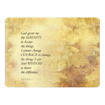 Serenity Prayer Abstract Sunflower Card