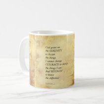 Serenity Prayer Abstract Sunflower Coffee Mug