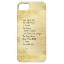 Serenity Prayer Abstract Sunflower iPhone SE/5/5s Case