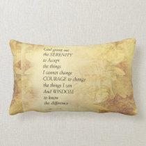 Serenity Prayer Abstract Sunflower Lumbar Pillow