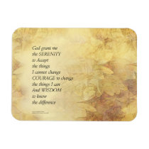 Serenity Prayer Abstract Sunflower Magnet