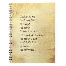 Serenity Prayer Abstract Sunflower Notebook