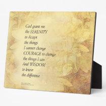 Serenity Prayer Abstract Sunflower Plaque