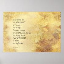Serenity Prayer Abstract Sunflower Poster