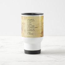 Serenity Prayer Abstract Sunflower Travel Mug