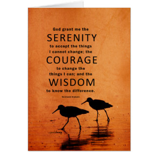 Serenity Prayer: African Green Gold, Recovery Card