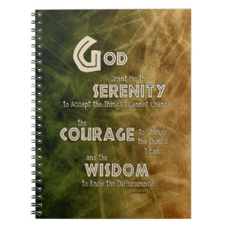 Serenity Prayer: African Green Gold, Recovery Notebook