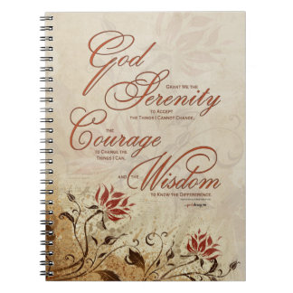 Serenity Prayer: African Green Gold, Recovery Spiral Notebook