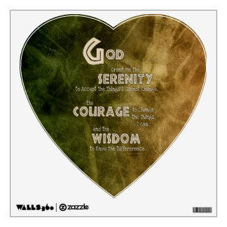 Serenity Prayer: African Green Gold, Recovery Wall Sticker