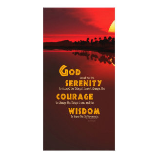 Serenity Prayer: African Red Sun Strength/Recovery Card