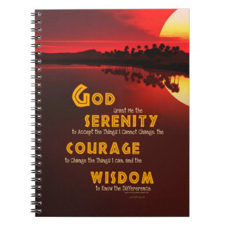 Serenity Prayer: African Red Sun Strength/Recovery Notebook