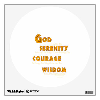 Serenity Prayer: African Red Sun Strength/Recovery Wall Decal