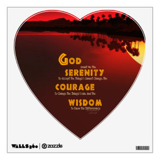 Serenity Prayer: African Red Sun Strength/Recovery Wall Sticker