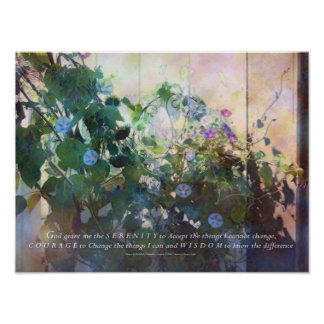 Serenity Prayer Afternoon Morning Glories Poster