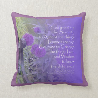Serenity Prayer Allium American MoJo Pillow