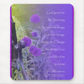 Serenity Prayer Allium Purple Mouse Pad