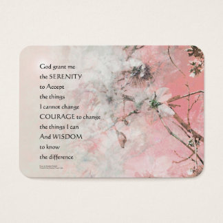 Serenity Prayer Almond Blossoms Pink Business Card