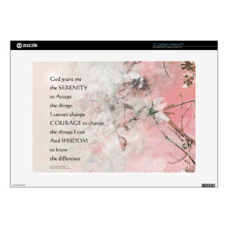 Serenity Prayer Almond Blossoms Pink Decals For Laptops