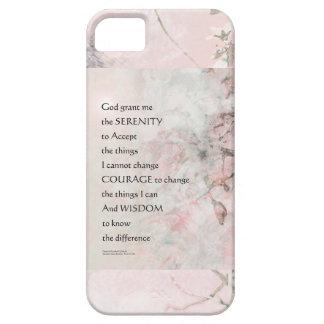 Serenity Prayer Almond Blossoms Pink iPhone SE/5/5s Case
