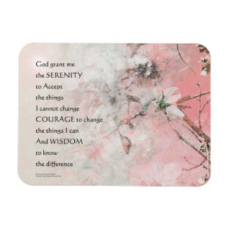 Serenity Prayer Almond Blossoms Pink Rectangular Photo Magnet