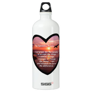 Serenity Prayer Aluminum Water Bottle