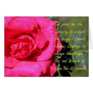 Serenity Prayer and Rain Drops Card