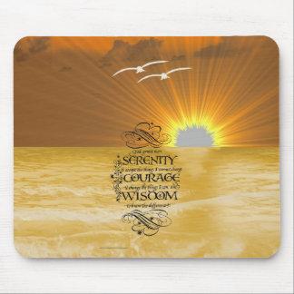 Serenity Prayer and Sunset Mousepad