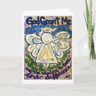 Serenity Prayer Angel Art Greeting or Note Cards