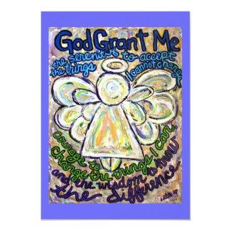 Serenity Prayer Angel Art Invitation or Invites