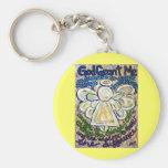 Serenity Prayer Angel Art Keychain Pendant