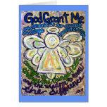 Serenity Prayer Angel Art Note or Greeting Card