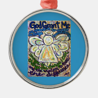 Serenity Prayer Angel Art Painting Ornament Charm