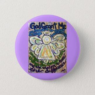 Serenity Prayer Angel Art Painting Pin
