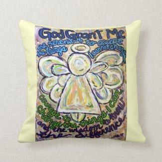 Serenity Prayer Angel Decorative Throw Pillow