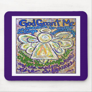 Serenity Prayer Angel Mousepad