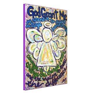 Serenity Prayer Angel Painting Canvas Art Print