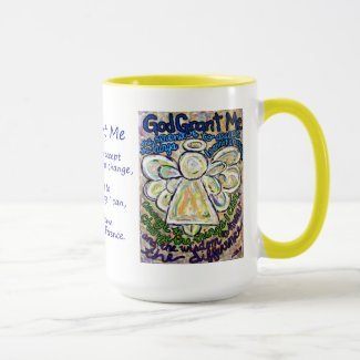 Serenity Prayer Angel Painting Mug or Cup